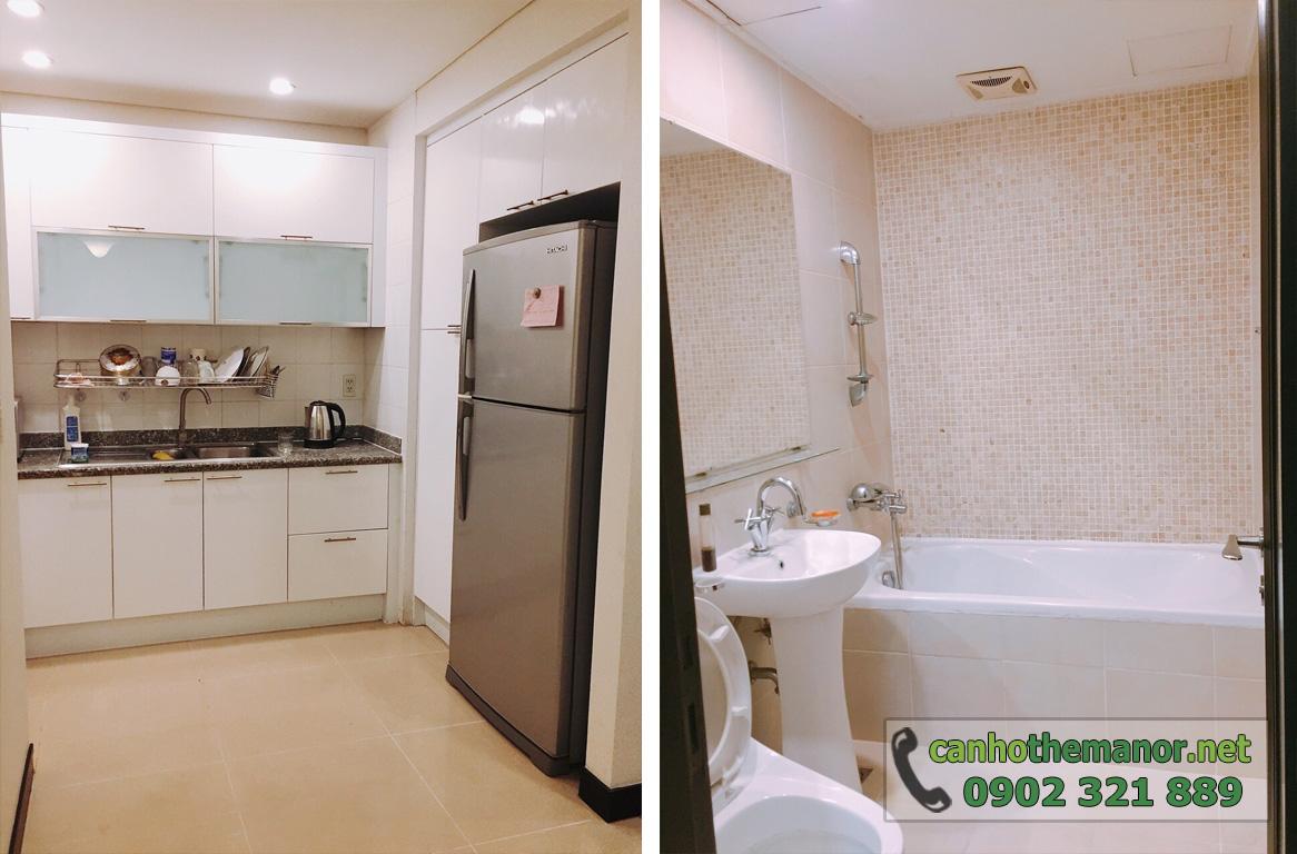 The Manor 1 HCM cho thuê căn hộ 100m2 3PN  - bếp và nhà vệ sinh