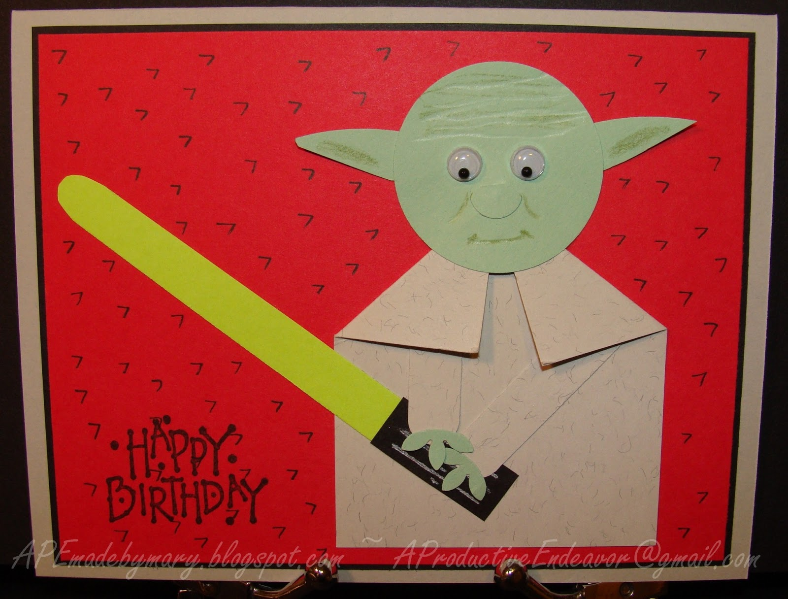A Paper Endeavor Yoda Birthday