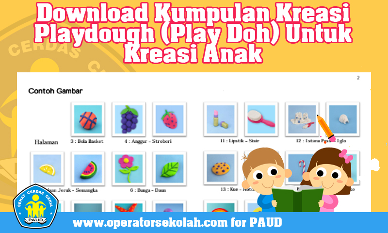 Download Kumpulan Kreasi Play Doh Untuk Kreasi Anak (APE PAUD)
