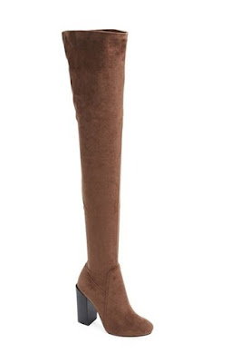 Jeffrey Campbell brown over the knee boots