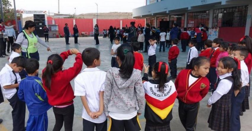 SIMULACRO DE SISMO: Más de 8 millones de escolares listos para participar este Viernes 31 de Mayo
