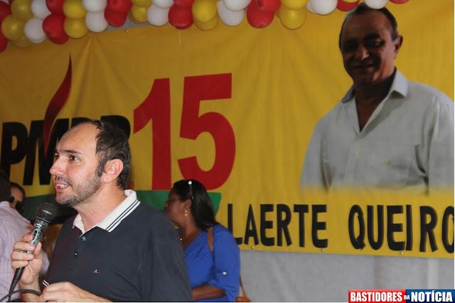 Prefeito Claudionor lemes apoia Laerte Queiroz