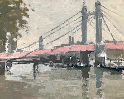#253 'Morning Light Albert Bridge' 8×10″