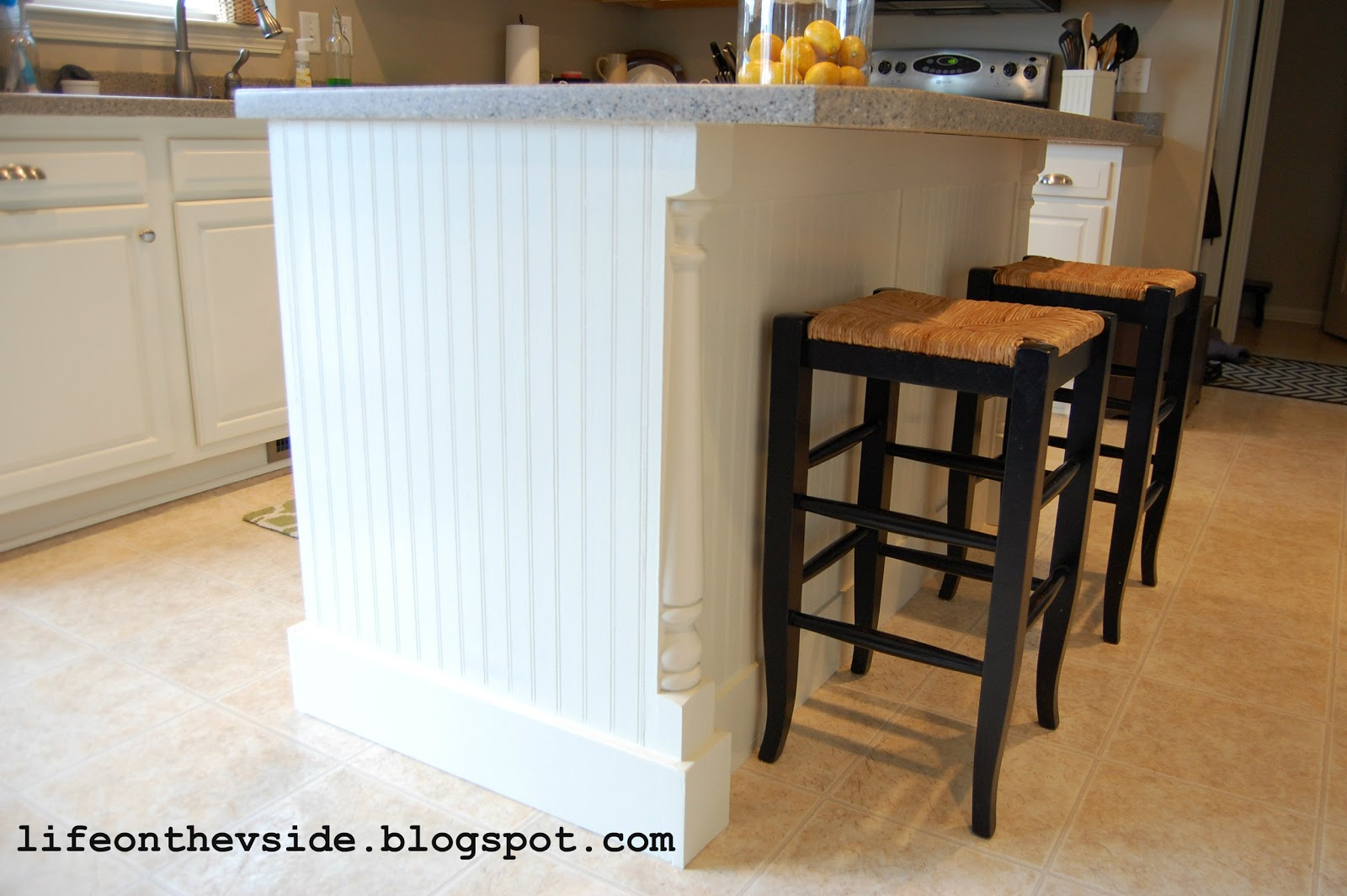 Beadboard Kitchen Island And Bath Magazine On The V Side Diy Update
