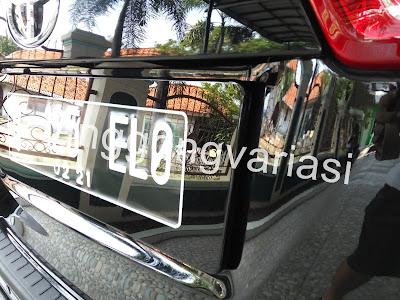 custom cover plat nomor acrylic cembung dan datar