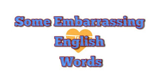 Some English Words That Have Certainly Embarrassed You.