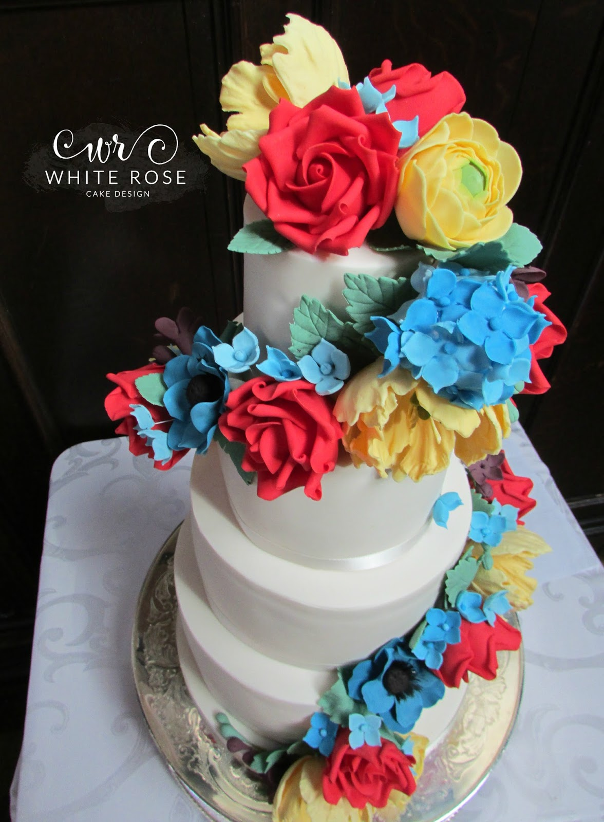 Rainbow Colours Archives White Rose Cake Design