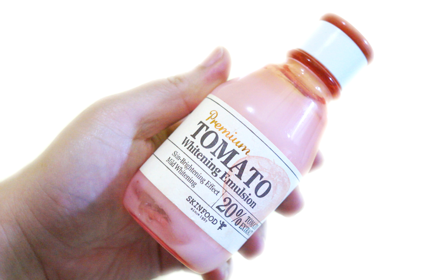 Review: Skinfood Tomato Whitening Emulsion | Gloriaus Days
