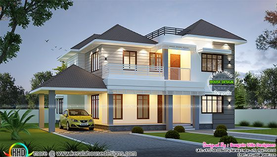Classical Modern Home In 2730 Sq Ft Kerala Home Design