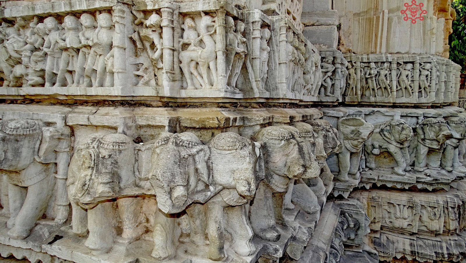 Elephant Statues Rock Carvings Chittorgarh