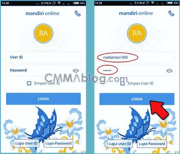 cara transfer mandiri online android