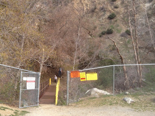 Bridge between Vulcan Materials Fish Canyon access trail and Angeles National Forest
