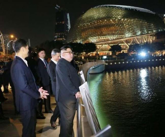 North Korea's leader Kim Jong, he looked closely at the progress of Singapore.