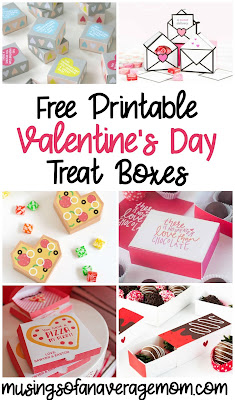 free printable valentines day treat boxes