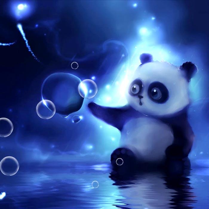 Panda Bubble Panda Foam Wallpaper Engine