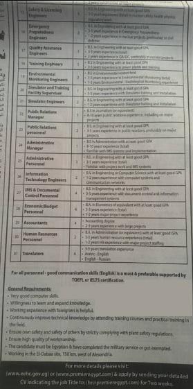 وظائف وزارة الكهرباء والطاقة المتجددة لجميع التخصصات والتقديم لمدة اسبوعين فقط