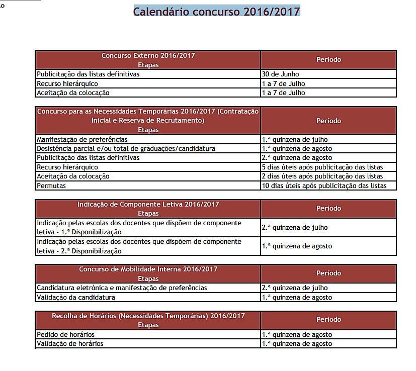 Eduprofs pr ximas fases do concurso 2016 2017 for Concurso de docentes 2016