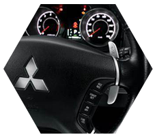 Paddle Shift for sport utility in driving Mitsubishi Delica