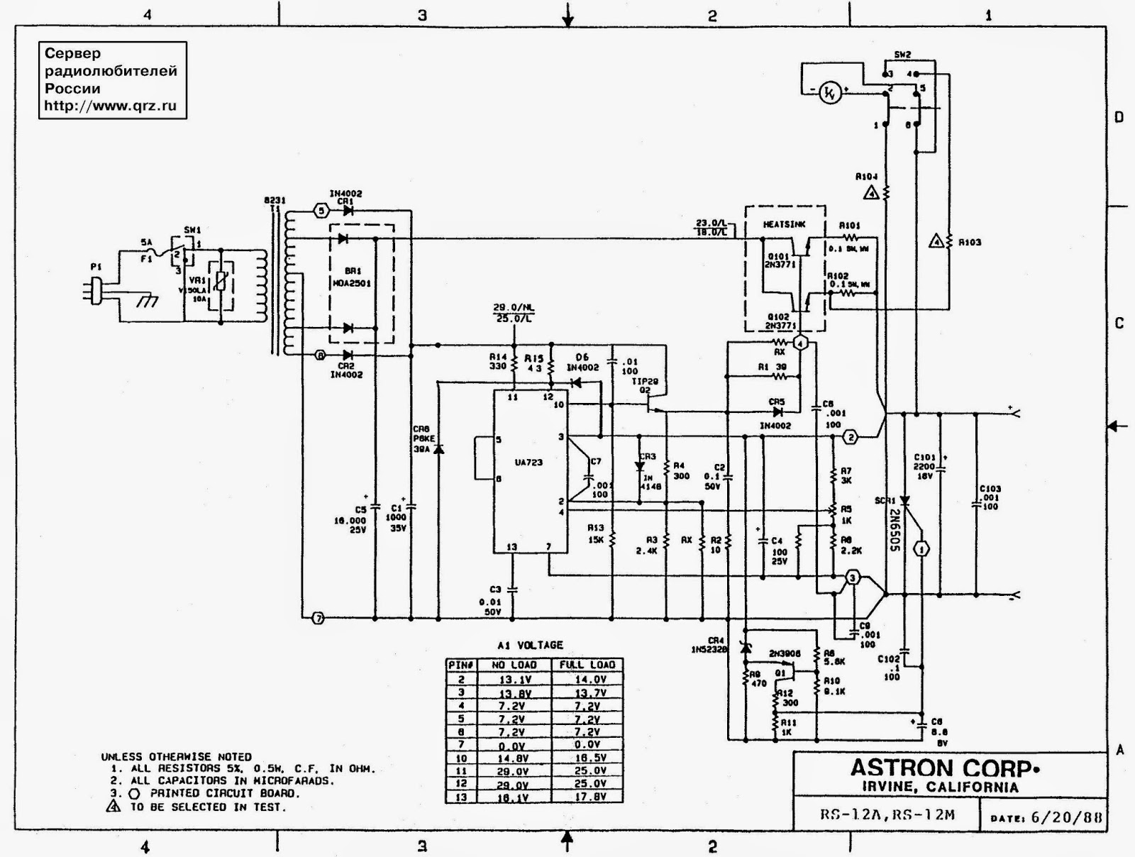 ASTRON RS 20A SERVICE MANUAL