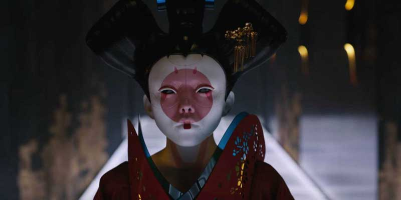 Video geishas roboticas de ghost in the shell