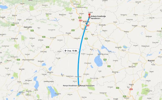 Konya'dan Ankara'ya uçak bileti