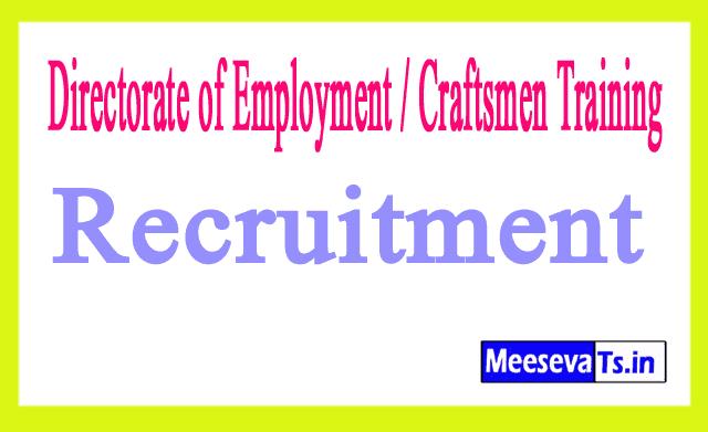 Directorate of Employment / Craftsmen Training DECT  Recruitment
