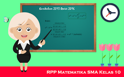 Download RPP Matematika SMA Kurikulum 2013 Kelas X Revisi 2016