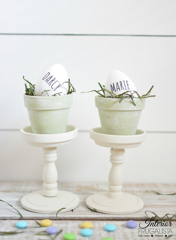 Easter Pedestal Style Place Holders