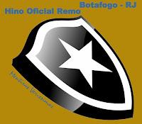 Escudo do Botafogo do Rio de Janeiro chamando para escutar o Hino Oficial da modalidade Remo do clube composto por Alberto Ruiz