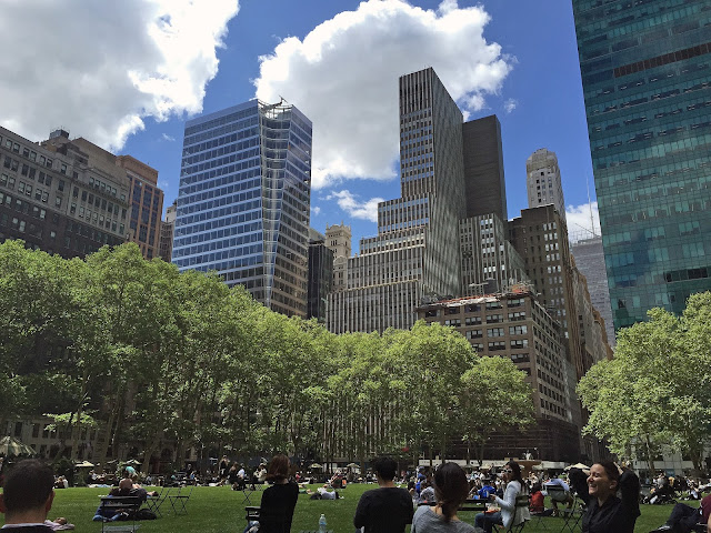 NYC travel guide summer bryant park location