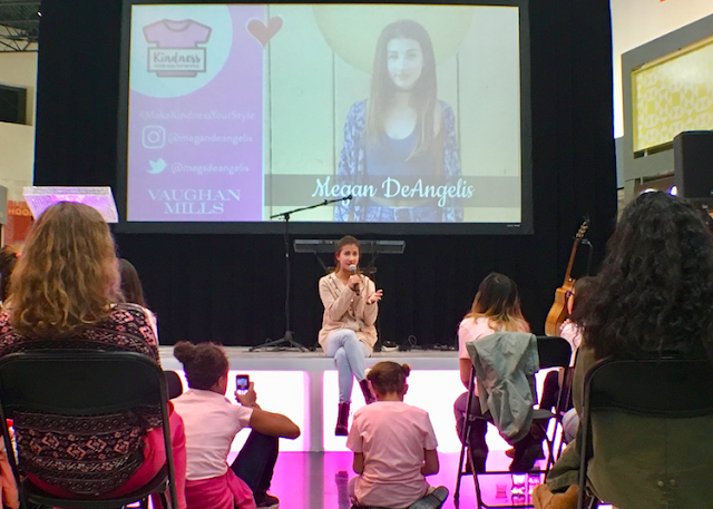 Pink Shirt Day performer and YouTuber Megan DeSantis #MakeKindnessYourStyle