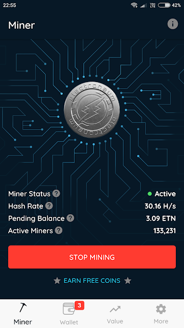 Electroneum app- blockchain app to earn cryptocurrency