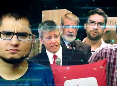 Imagem de apresentação do programa Dois Dedos de Teologia. Marcos Botelho  está no canto à direita, de óculos. ef198e18e0