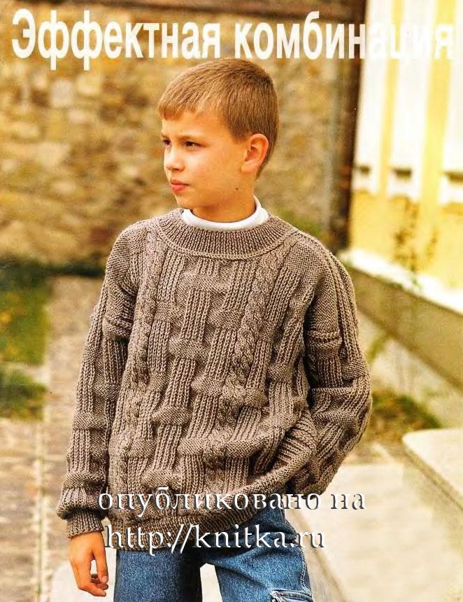 вязание крючком и спицамиcrochet And Knitting пуловер для мальчика