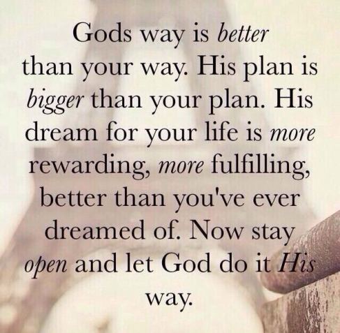 God's Plans are Greater Than >