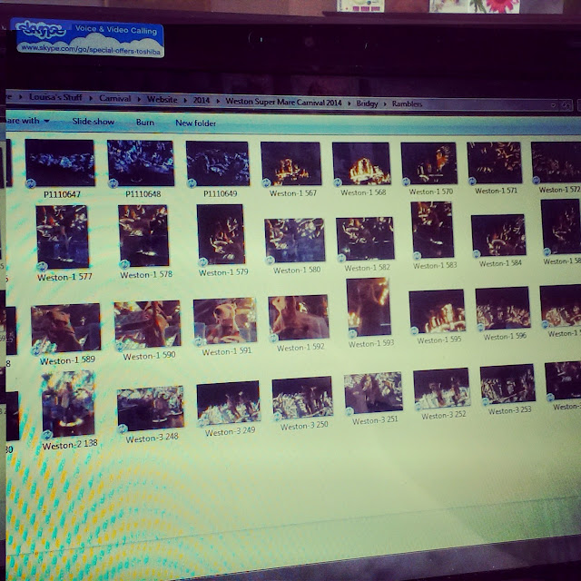 2pm - editing Carnival photos
