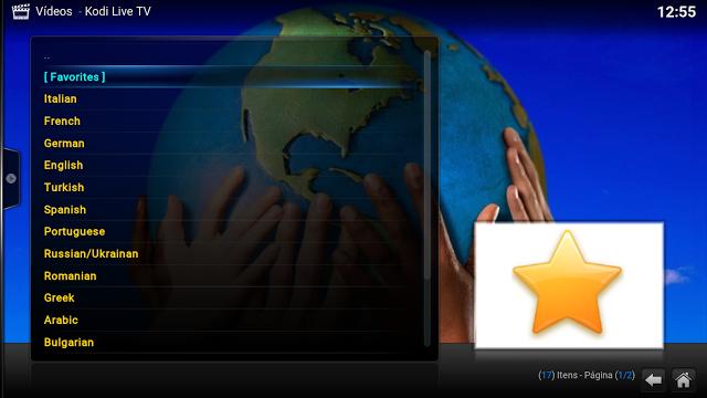 Add-On - Kodi Live TV - Kodi - Canais Brasileiros e De Todo Mundo