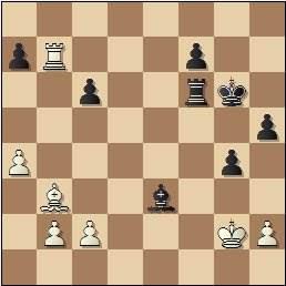 Partida de ajedrez Esteban Canal vs. Rafael Llorens, posición después de 37…Ae3, Barcelona 1936