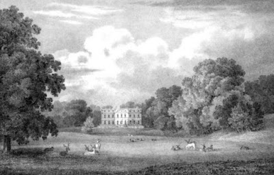 Clandon Park, Surrey from Select Illustrations of the County of Surrey by GF Prosser (1828)