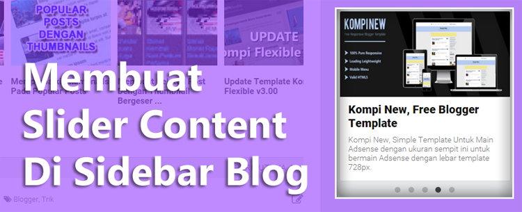 Membuat Featured Post Dengan Simple Responsive Slider Di Sidebar Blog