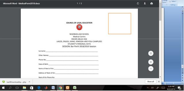 NLS Medical Form