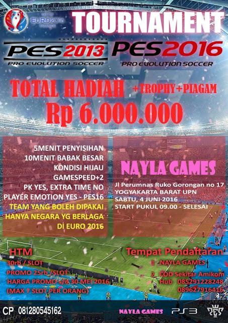 Kompetisi PES 2013 dan PES 2016 di Yogyakarta Juni 2016