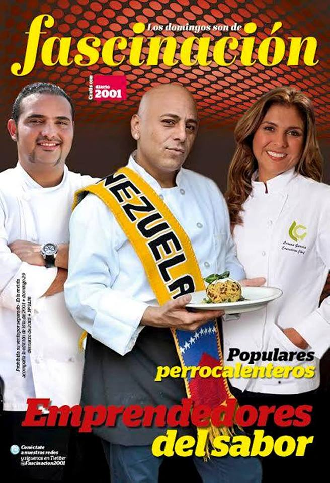 Carlos La Cruz: Ninibeth Leal Miss Mundo 1991 Arepa Reina Adorada Chef Carlos La Cruz