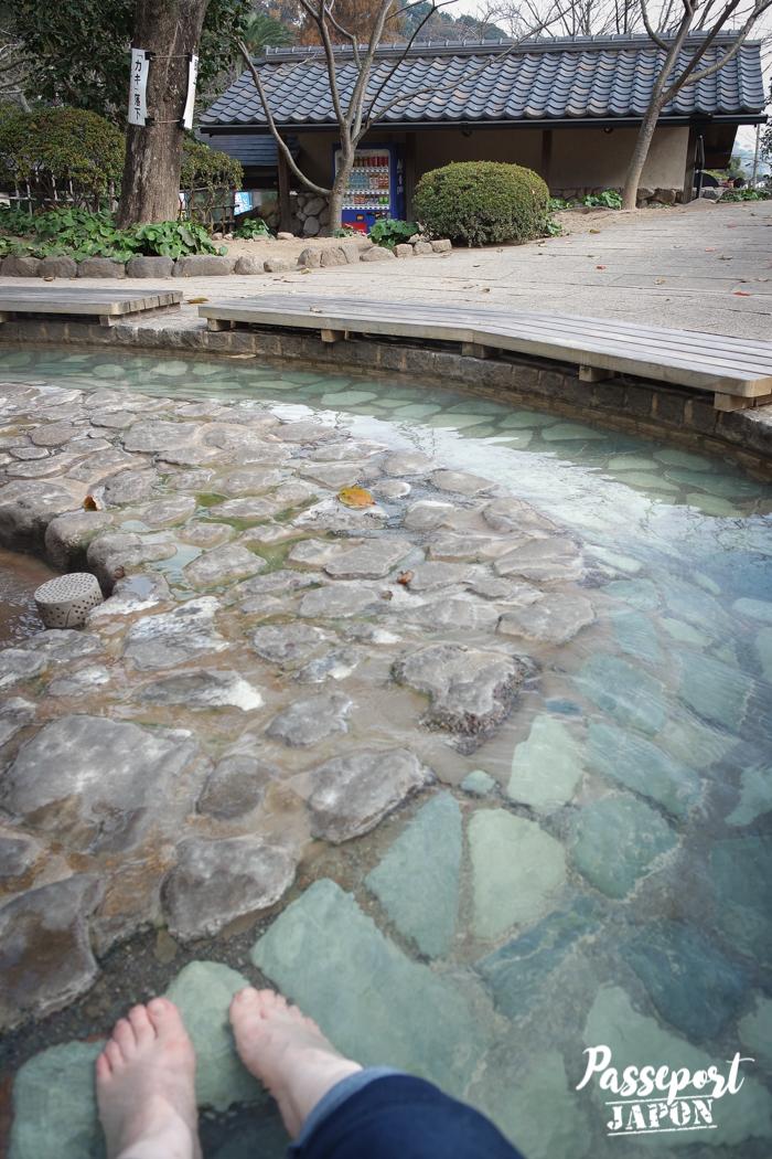 Ashiyu (bain de pied), Oniishibozu Jigoku, Beppu, Oita