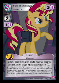 My Little Pony Sunset Shimmer, Clever Girl Absolute Discord CCG Card