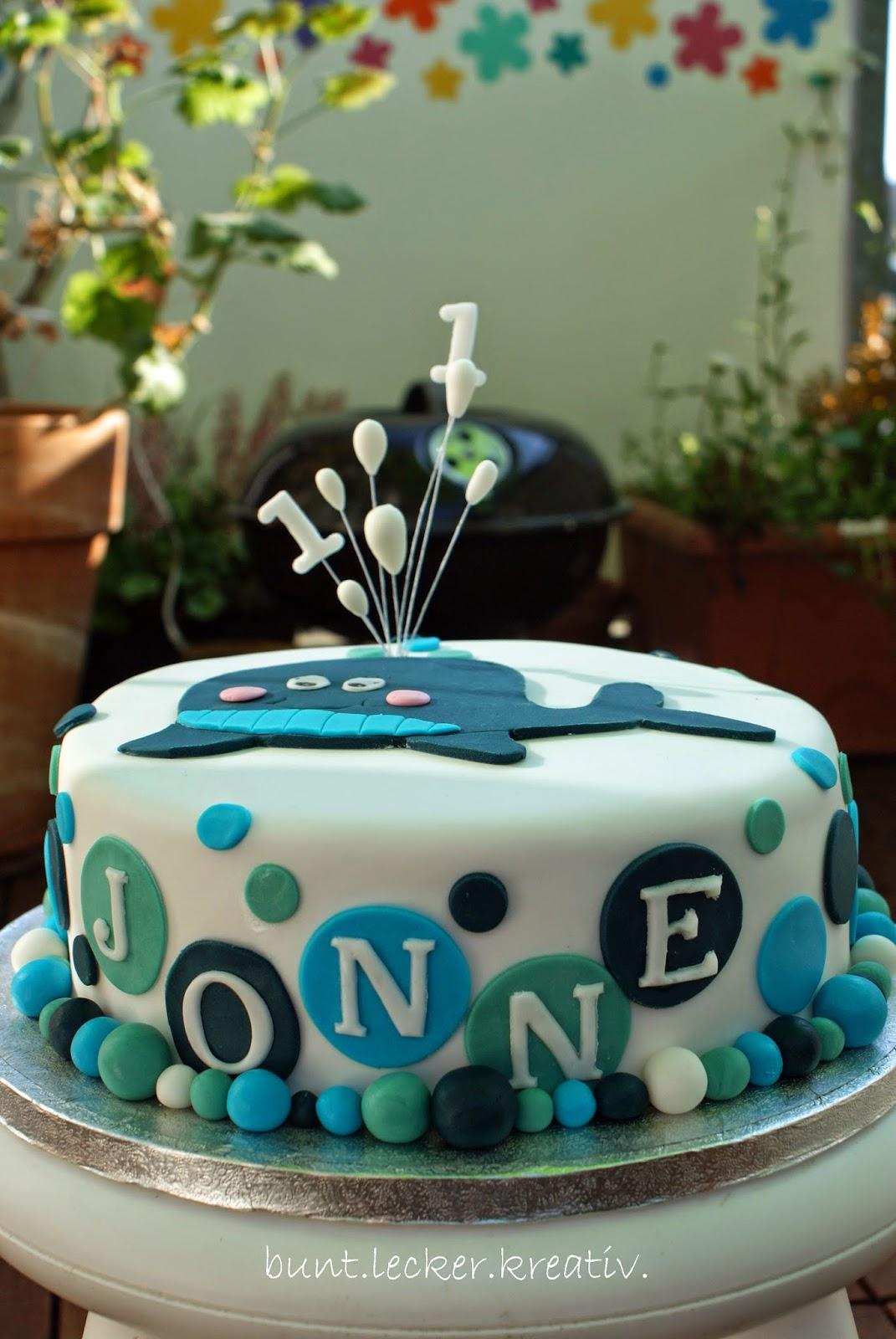 Wal Torte Zum 1 Geburtstag Buntleckerkreativ