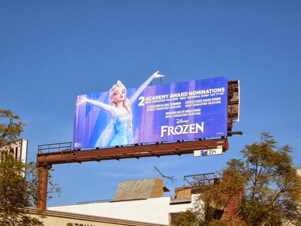 Disney Frozen Oscar nomination special billboard