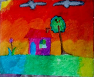 contoh ide gambar rumah dan pemandangan
