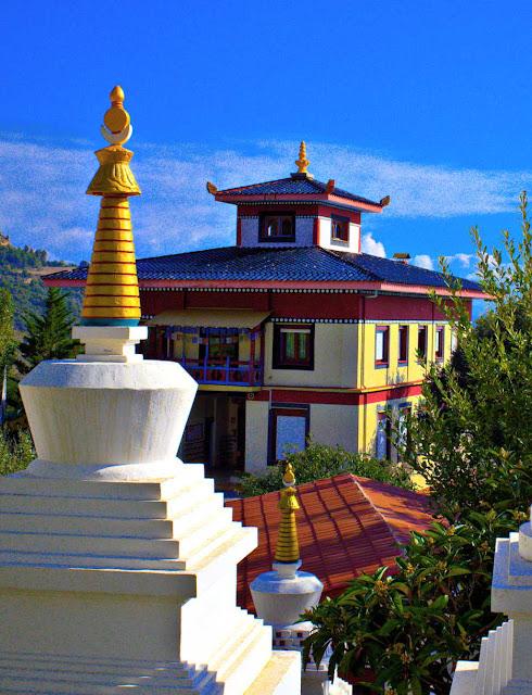 Estupa del templo budista