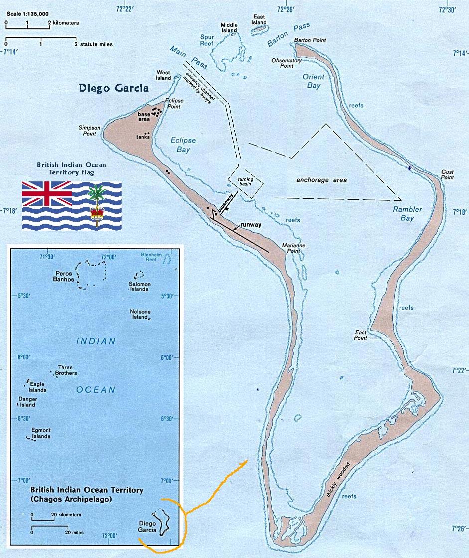 Território Britânico do Oceano Índico (BIOT) - Reino Unido